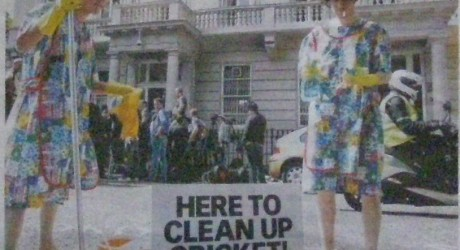 Here to clean up cricket