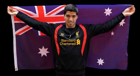 Luis Suarez with Australian Flag lr